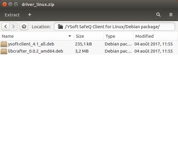 Debian Install Zip