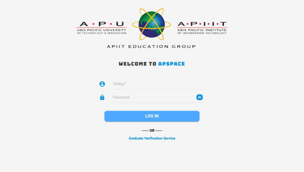 apspace login page