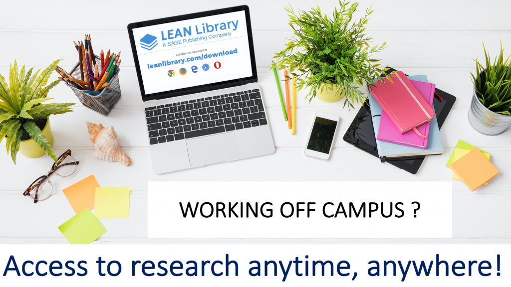 Working on your research from home? Looking for electronic journals or reviews you want to cite in your publication?